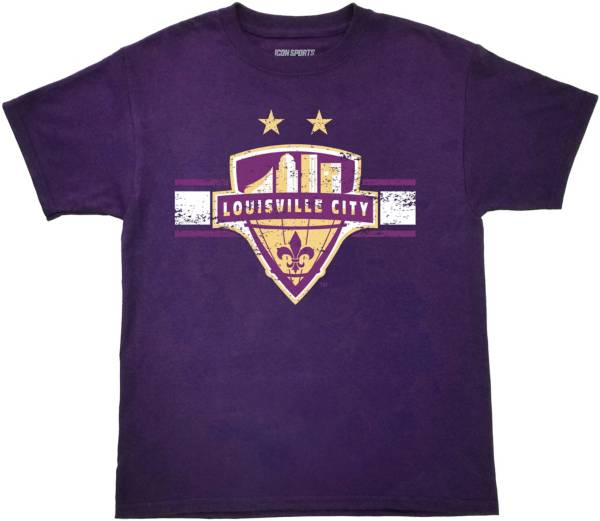 Icon Sports Group Youth Louisville City FC Logo Purple T-Shirt product image