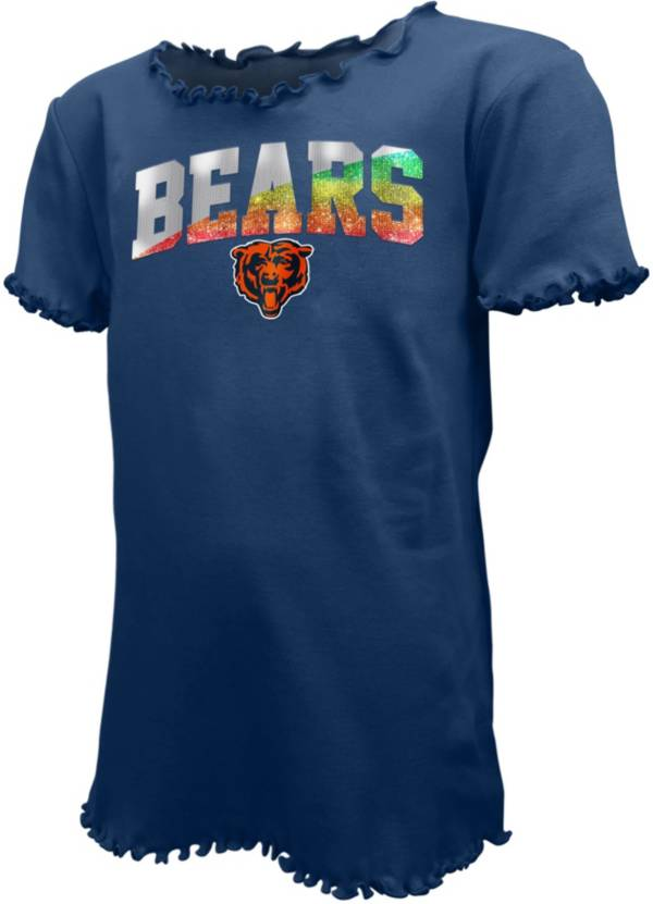 New Era Youth Girls' Chicago Bears Navy Flip Sequins T-Shirt product image