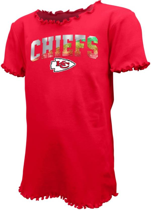 New Era Youth Girls' Kansas City Chiefs Flip Sequins T-Shirt product image