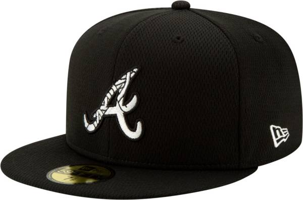 New Era Men's Atlanta Braves 59Fifty Black Batting Practice Fitted Hat product image