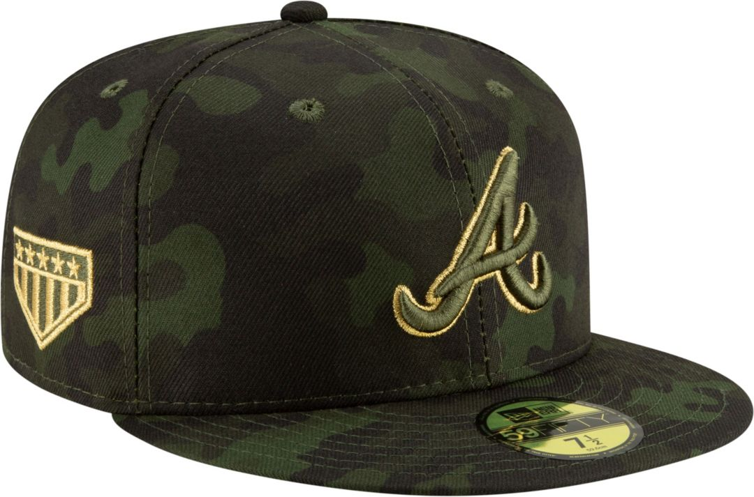 new products 7708e 7cb78 New Era Men s Atlanta Braves 59Fifty Armed Forces Fitted Hat. noImageFound.  Previous