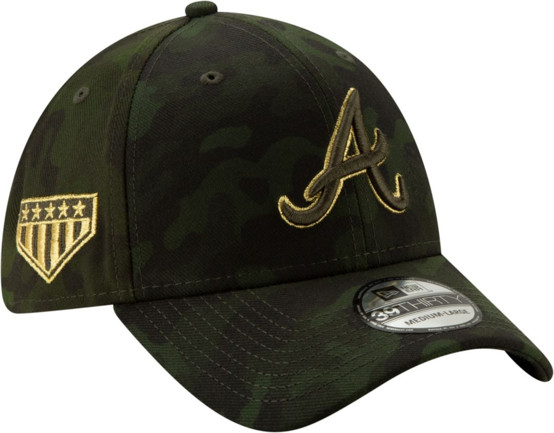 online retailer 546ce bfd14 New Era Men s Atlanta Braves 39Thirty Armed Forces Stretch Fit Hat.  noImageFound. Previous