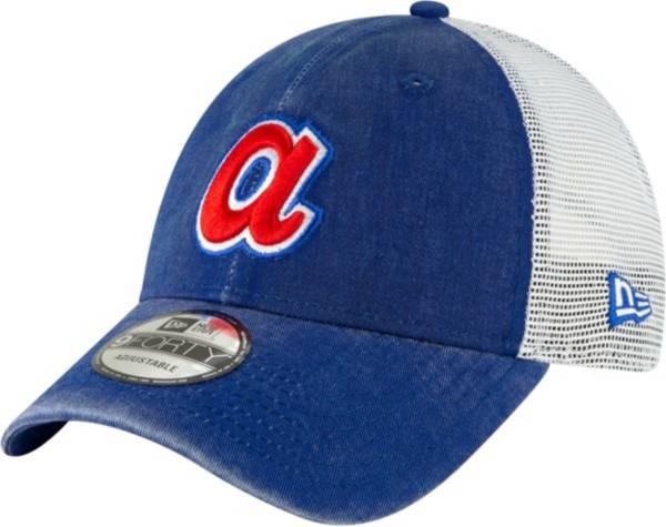 New Era Men's Atlanta Braves 9Forty Cooperstown Trucker Adjustable Hat product image