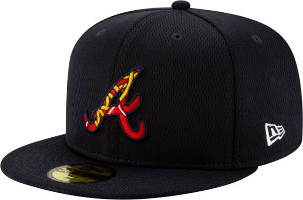 New Era Men's Atlanta Braves 59Fifty Navy Batting Practice Fitted Hat product image
