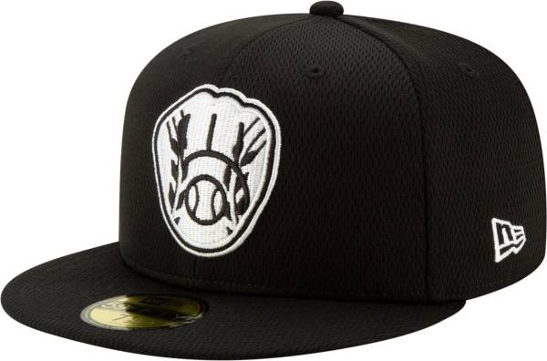 New Era Men's Milwaukee Brewers 59Fifty Black Batting Practice Fitted Hat product image