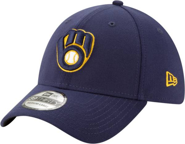 New Era Men's Milwaukee Brewers Navy 39Thirty Stretch Fit Hat product image