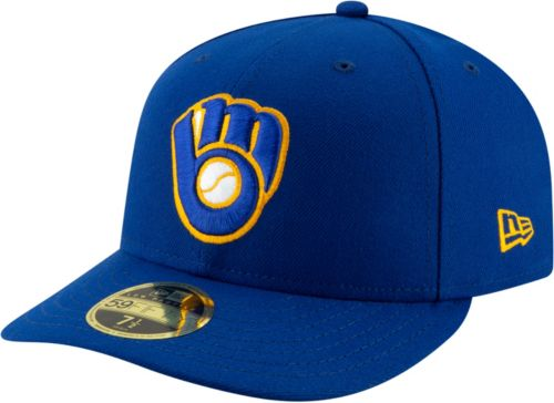 404671733 New Era Men's Milwaukee Brewers 59Fifty Alternate Royal Low Crown Fitted  Hat. noImageFound. Previous