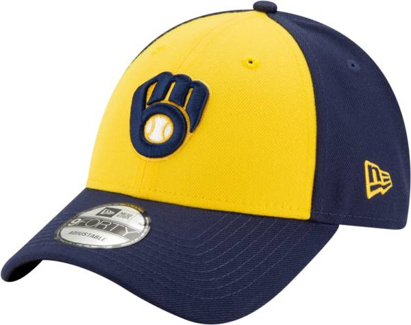 New Era Men's Milwaukee Brewers Yellow 9Forty League Adjustable Hat product image