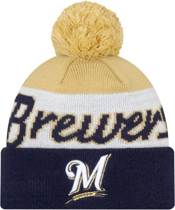 New Era Men's Milwaukee Brewers Script Knit Hat product image