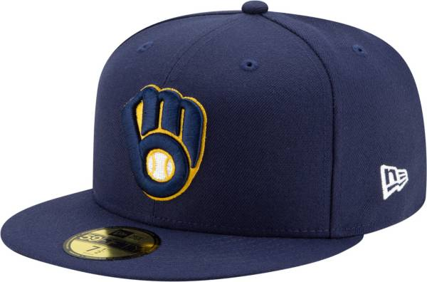 New Era Men's Milwaukee Brewers Navy 59Fifty Authentic Hat product image