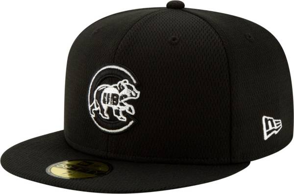 New Era Men's Chicago Cubs 59Fifty Black Batting Practice Fitted Hat product image