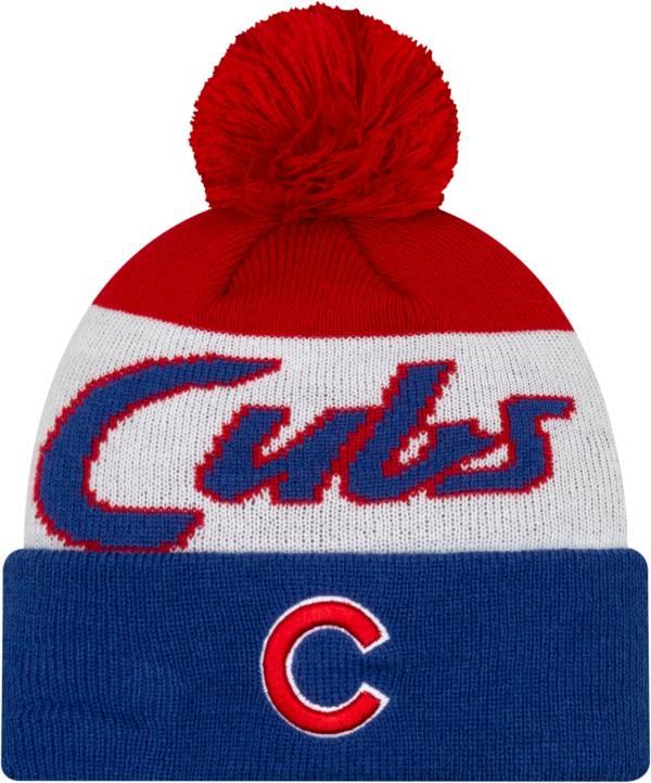 New Era Men's Chicago Cubs Script Knit Hat product image