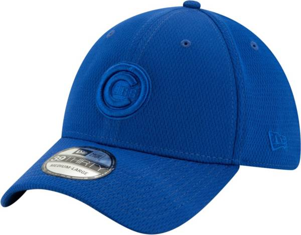 New Era Men's Chicago Cubs Blue 39Thirty Perftone Stretch Fit Hat product image