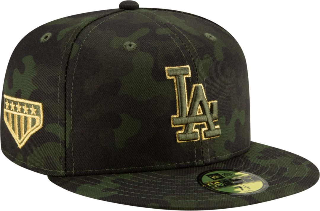 0855f8679ec1e4 New Era Men's Los Angeles Dodgers 59Fifty Armed Forces Fitted Hat.  noImageFound. Previous