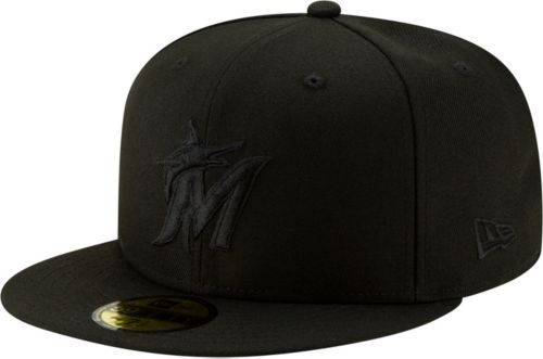 online store b1299 71ede New Era Men s Miami Marlins 59Fifty Black Fitted Hat. noImageFound. Previous