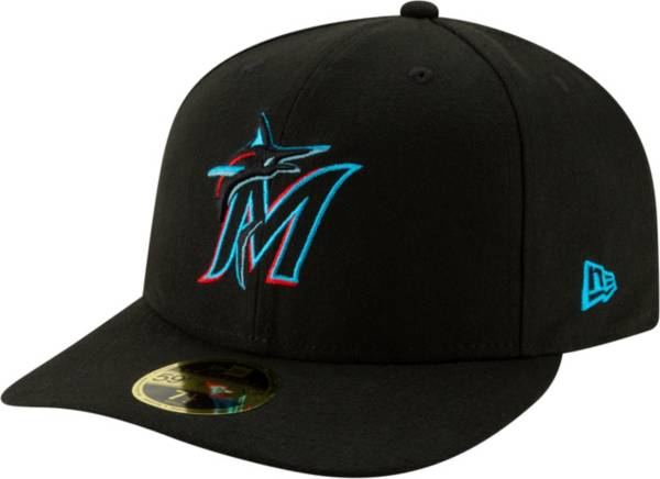 New Era Men's Miami Marlins 59Fifty Game Black Low Crown Fitted Hat product image