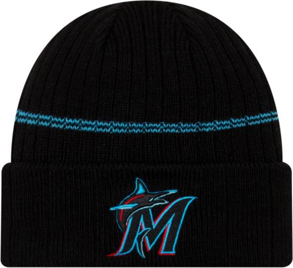 New Era Men's Miami Marlins Black Sports Knit Hat product image