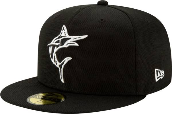 New Era Men's Miami Marlins 59Fifty Black Batting Practice Fitted Hat product image