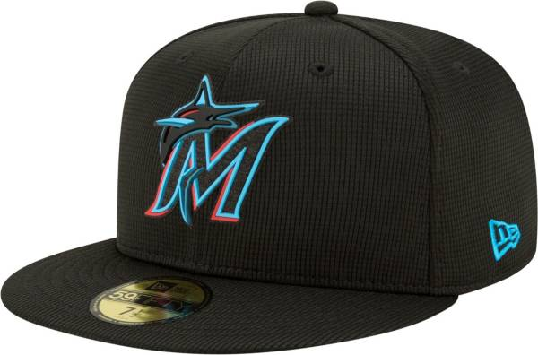 New Era Men's Miami Marlins Black 59Fifty Clubhouse Fitted Hat product image