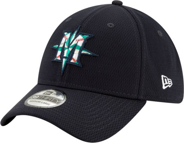 New Era Men's Seattle Mariners 39Thirty Navy Batting Practice Stretch Fit Hat product image
