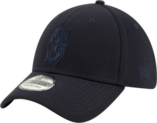 New Era Men's Seattle Mariners Navy 39Thirty Perftone Stretch Fit Hat product image