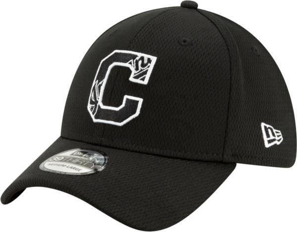 New Era Men's Cleveland Indians 39Thirty Black Batting Practice Stretch Fit Hat product image