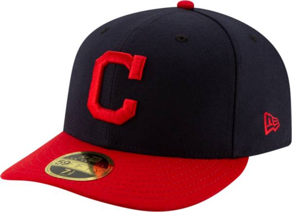 New Era Men's Cleveland Indians 59Fifty Home Navy Low Crown Fitted Hat product image