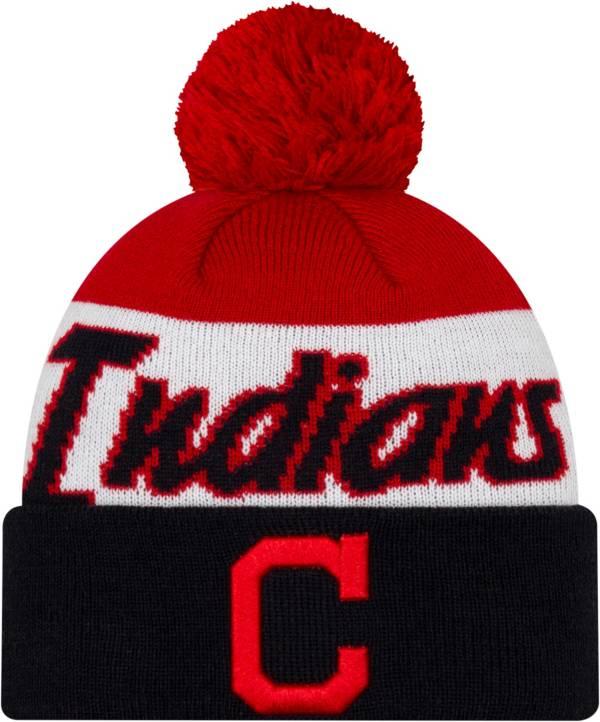 New Era Men's Cleveland Indians Script Knit Hat product image