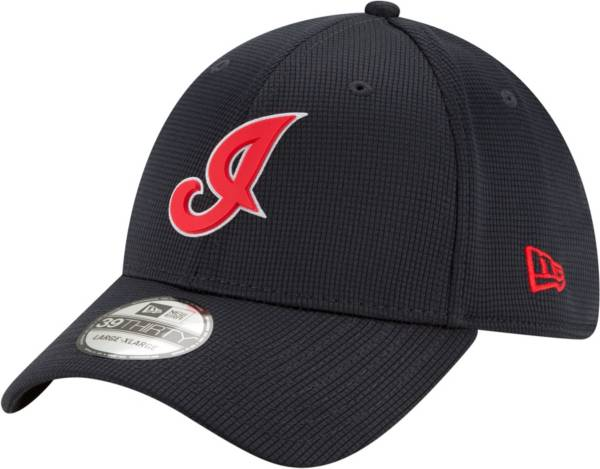 New Era Men's Cleveland Indians Navy 39Thirty Clubhouse Stretch Fit Hat product image