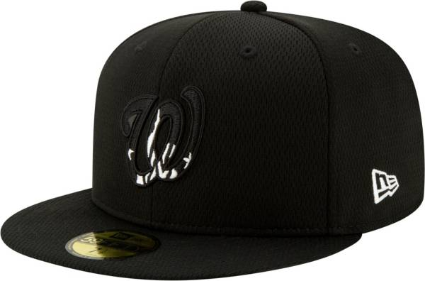 New Era Men's Washington Nationals 59Fifty Black Batting Practice Fitted Hat product image