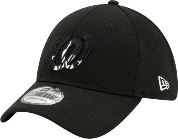 New Era Men's Washington Nationals 39Thirty Black Batting Practice Stretch Fit Hat product image