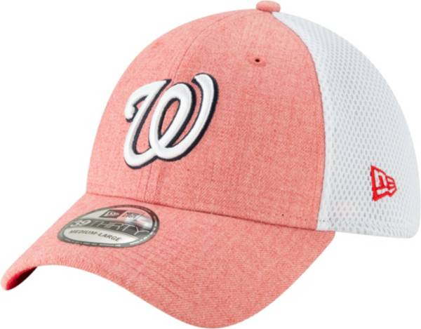 New Era Men's Washington Nationals Pink 39Thirty Heather Neo Stretch Fit Hat product image