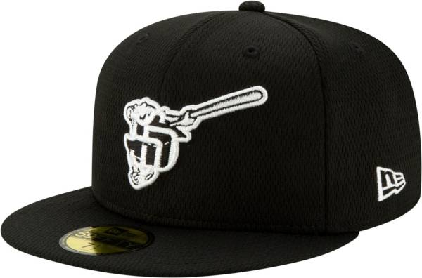 New Era Men's San Diego Padres 59Fifty Black Batting Practice Fitted Hat product image