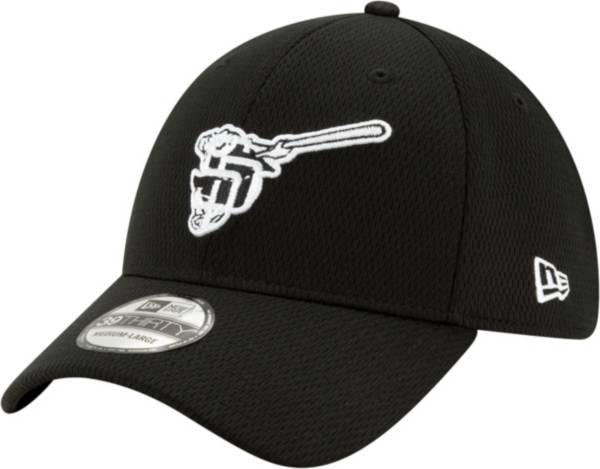 New Era Men's San Diego Padres 39Thirty Black Batting Practice Stretch Fit Hat product image