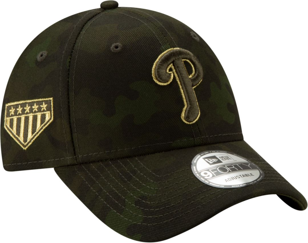c984cb0a6 New Era Men's Philadelphia Phillies 9Forty Armed Forces Adjustable Hat