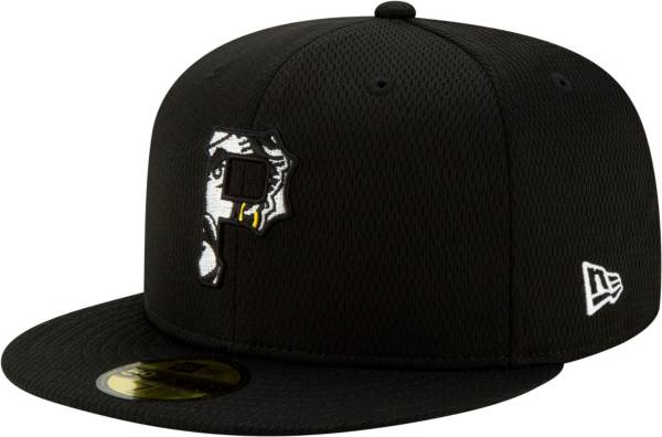 New Era Men's Pittsburgh Pirates 59Fifty Black Batting Practice Fitted Hat product image
