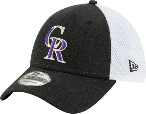 New Era Men's Colorado Rockies Black 39Thirty Heather Neo Stretch Fit Hat product image