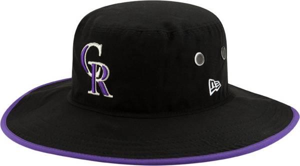 New Era Men's Colorado Rockies Black Basic Bucket Hat product image