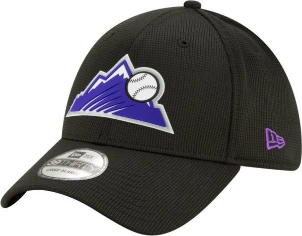 New Era Men's Colorado Rockies Black 39Thirty Clubhouse Stretch Fit Hat product image