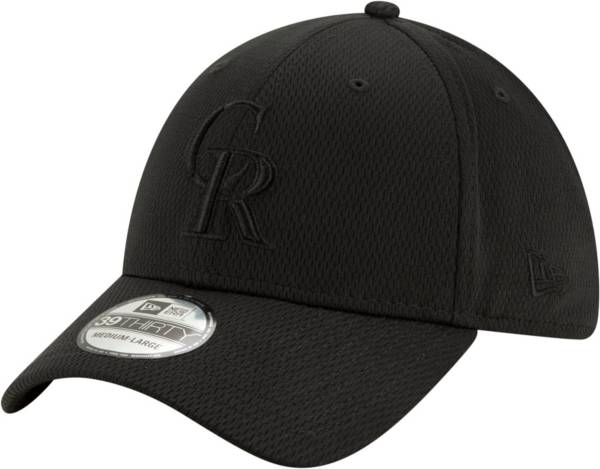 New Era Men's Colorado Rockies Black 39Thirty Perftone Stretch Fit Hat product image