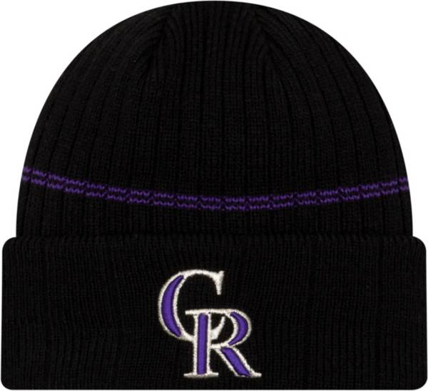 New Era Men's Colorado Rockies BLack Sports Knit Hat product image