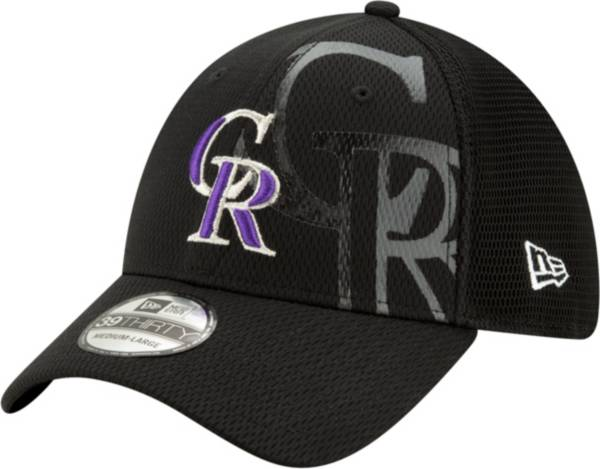New Era Men's Colorado Rockies Black 39Thirty Tonel Neo Stretch Fit Hat product image