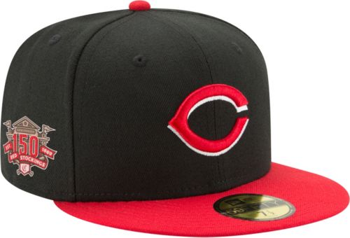 cheaper 89749 a7a18 New Era Men s Cincinnati Reds 59Fifty Alternate Black Authentic Hat w  150th  Season Patch. noImageFound. Previous