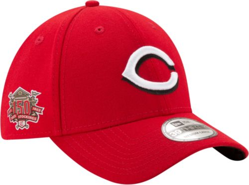 promo code 18cf8 56dc9 New Era Men s Cincinnati Reds 39Thirty Red Stretch Fit Hat w  150th Season  Patch. noImageFound. Previous. 1
