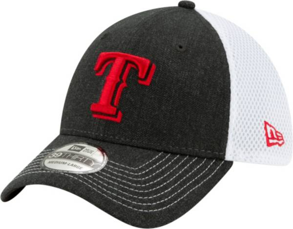 New Era Men's Texas Rangers Black 39Thirty Heather Neo Stretch Fit Hat product image