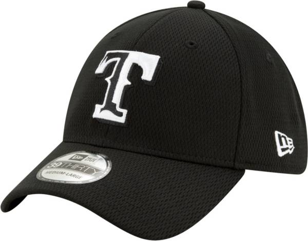 New Era Men's Texas Rangers 39Thirty Black Batting Practice Stretch Fit Hat product image
