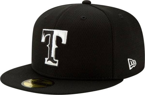 New Era Men's Texas Rangers 59Fifty Black Batting Practice Fitted Hat product image