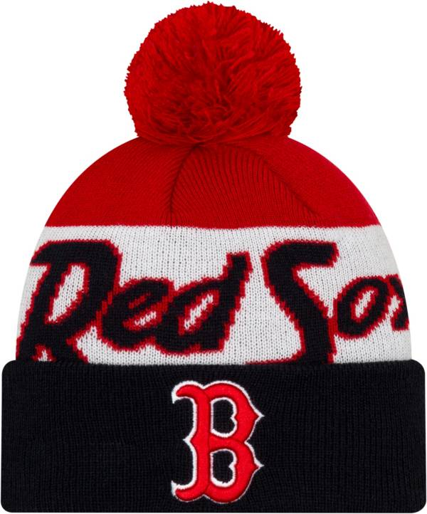 New Era Men's Boston Red Sox Script Knit Hat product image