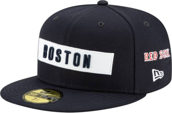 New Era Men's Boston Red Sox 59Fifty Navy Multi-logo Fitted Hat product image