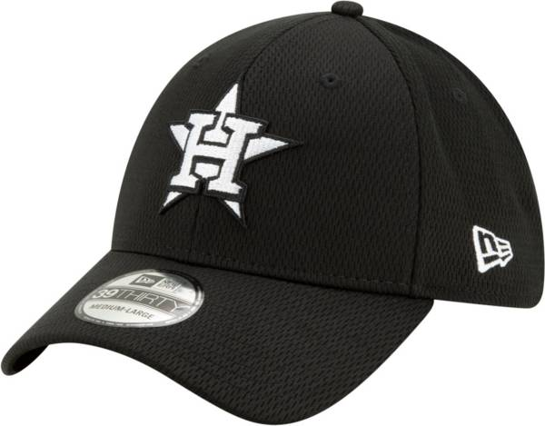 New Era Men's Houston Astros 39Thirty Black Batting Practice Stretch Fit Hat product image
